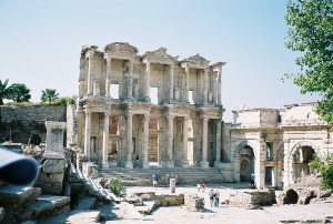 Ephesus Library footsteps of paul tour Footsteps of Paul Tour Turkey Ephesus Library1