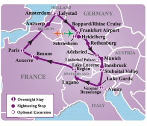 Heart of Europe Tour Map {focus_keyword} Core of Europe Loop Tour Heart Europe Tour map