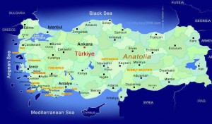 Tourist map of Turkey. footsteps of paul tour Footsteps of Paul Tour Turkey Map of Turkey