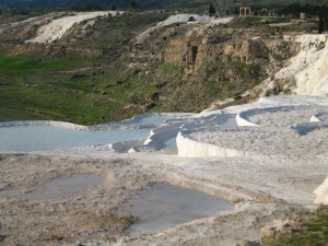 Hot springs at Pammukale. {focus_keyword} Turkey Express Circle Tour Pammukale