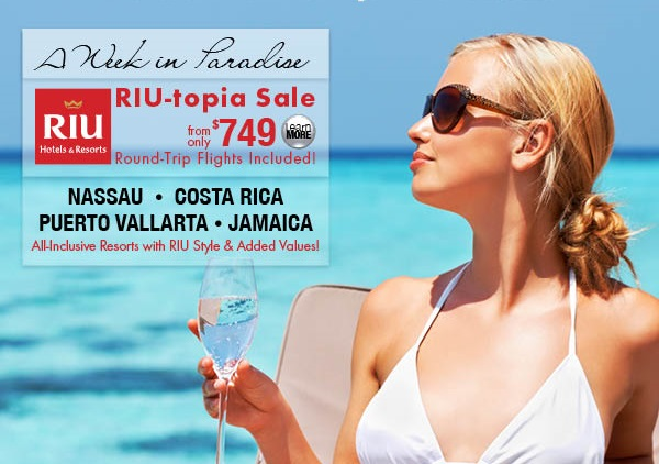 Riu sale {focus_keyword} Riu Resorts on Sale with Air from Selected Cities Riu sale