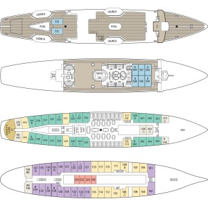 Star Flyer Deckplan {focus_keyword} Star Clippers Comet ISON Tall Ship Cruise flyer clipper deckplans