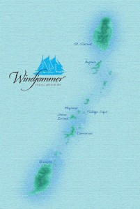 Grenadines Map windjammer cruise Mandalay Windjammer Cruise Special 2015 Grenadines map