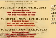 Sail Windjammer November Specials