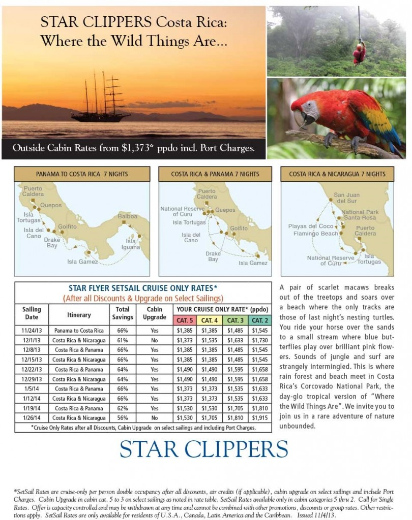 Costa Rica Star Clippers Specials {focus_keyword} Star Clippers Costa Rica Specials on the Star Flyer Costa Rica Star Clippers Cruises