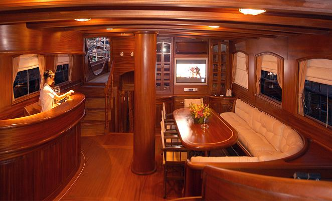 Queen Karia Salon {focus_keyword} Queen of Karia Luxury Gulet Yacht Charter from Bodrum, Turkey. queen karia salon2