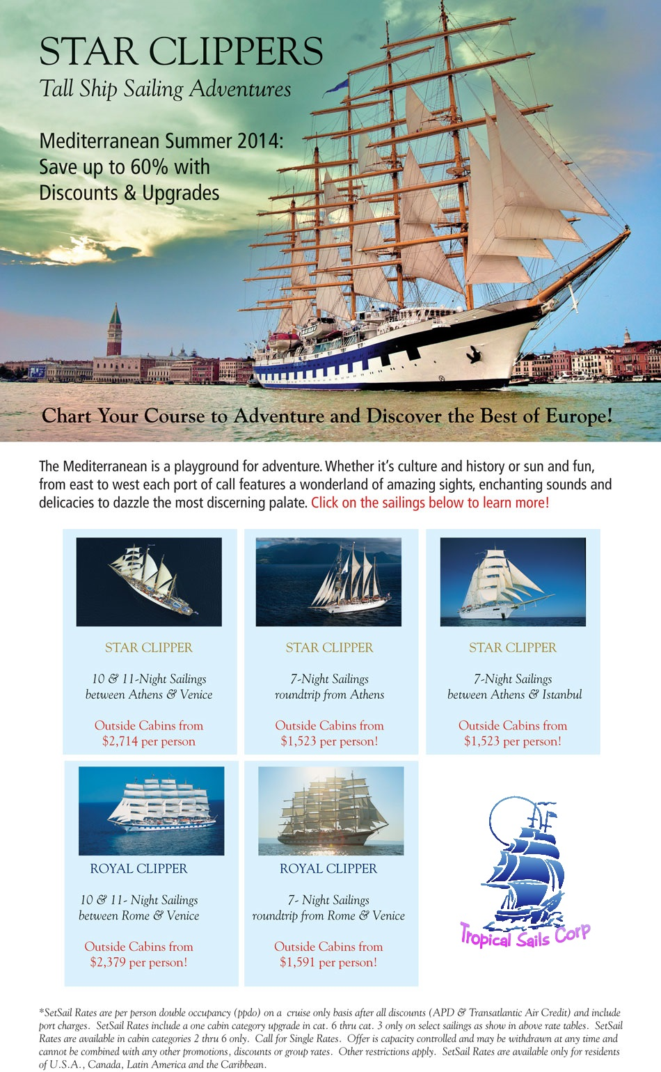 Royal Clipper {focus_keyword} Star Clippers Summer Sailing Cruises in Europe On Sale Royal Clipper Summer Specials