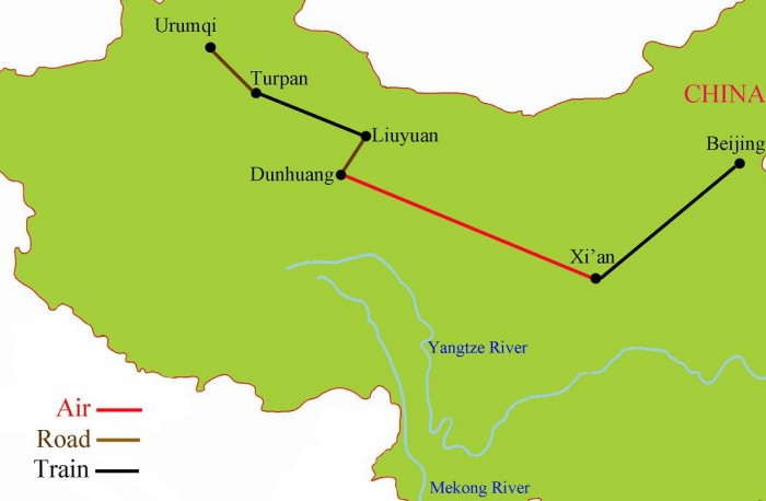 Silk Road Tour Map {focus_keyword} Silk Road China Tour October 2014 Silk Road Tour Map