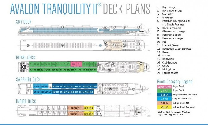 Avalon Tranquility Deck Plan {focus_keyword} Avalon Tranquility II European River Cruise Ship Avalon Tranquility Deck Plan