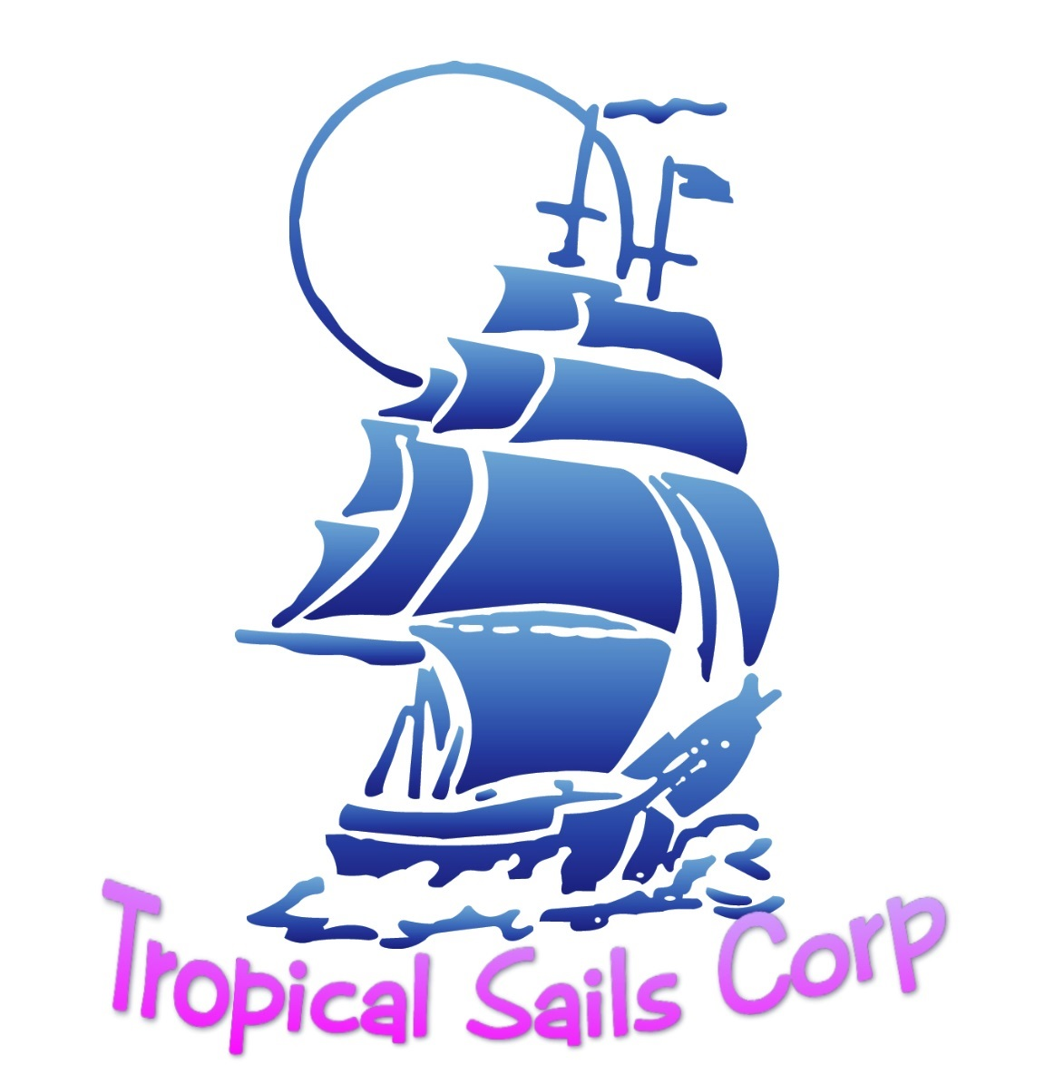 Tropical Sails Corp Tours and Cruises Travel Agency logo {focus_keyword} Location Logo smaller