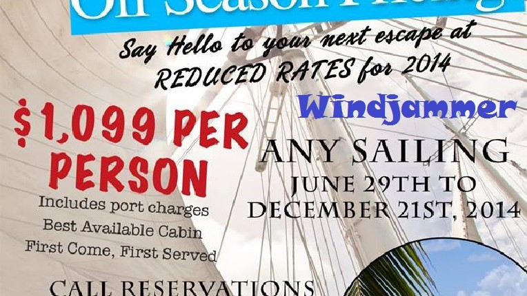 Windjammer Summer Sale