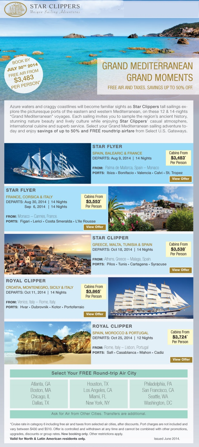 July 2014 Specials On Star Clippers {focus_keyword} Fall Specials Star Clippers Med July 2014 Specials