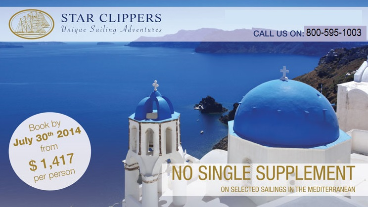 No Single Supplement On Star Clippers  Tropical Sails Corp Travel Agency  R