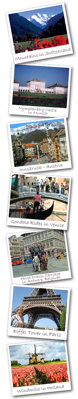 Heart of Europe Photo Strip europe vacation packages Europe Vacation Packages 2016 Heart of Europe Photo Strip