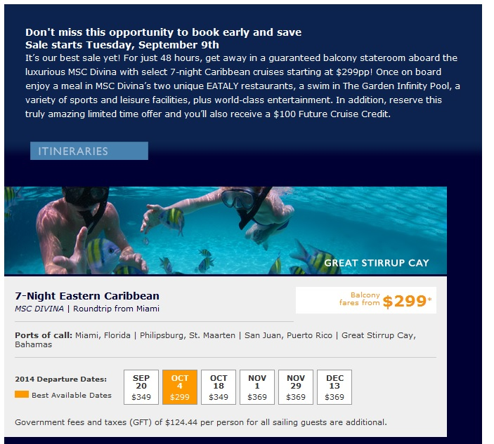 MSC Eastern Caribbean caribbean cruise deals MSC Cruises Caribbean Cruise Deals MSC Eastern Caribbean