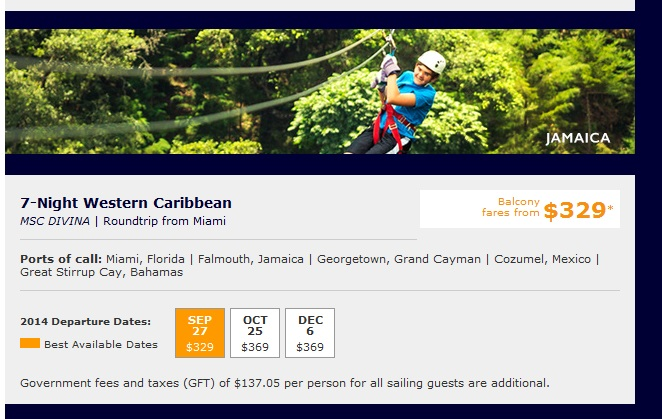 7-Night Western Caribbean caribbean cruise deals MSC Cruises Caribbean Cruise Deals MSC Western Caribbean