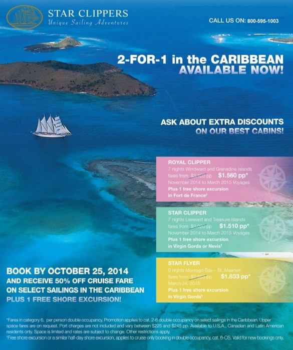 Sailing Cruises Caribbean Specials sailing cruises Sailing Cruises Caribbean Star Clippers Winter Specials star clippers sailing cruises