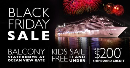 Black Friday Cruise Sale from MSC Cruises