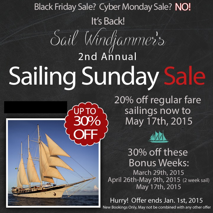 Mandalay Windjammer Cruise windjammer cruise Mandalay Windjammer Cruise Special 2015 Windjammer Cruise Sunday Sale