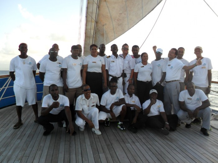 Mandalay Cruises Crew windjammer mandalay Windjammer Mandalay Trip Review Mandalay Cruises Crew