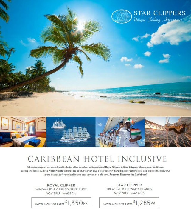 Caribbean Cruises Packages caribbean cruise Star Clippers Caribbean Cruises Winter Savings Star Clippers Caribbean Cruises Packages