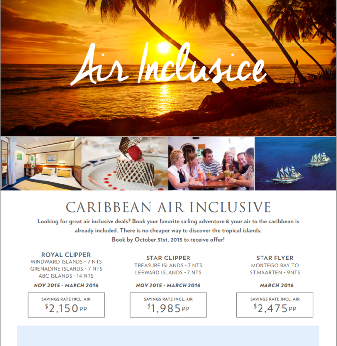 Star Clippers Caribbean Cruise caribbean cruise Star Clippers Caribbean Cruises Winter Savings Star Clippers Winter Specials