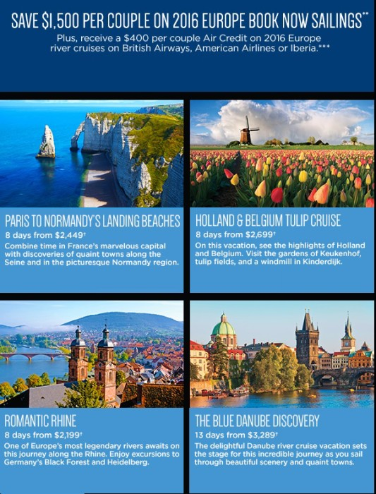 European River Cruises Sale Vistancia travel agency Vistancia Travel Agency in Peoria Avalon 2016 European River Cruises sale