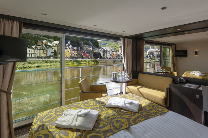 Avalon European River Cruises Stateroom european river cruises Best Cabins in European River Cruises are with Avalon Impression Interior Panorama Suite European River Cruises