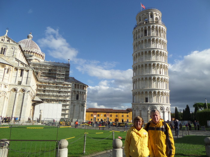Dan and Shirley Leaning Tower of Pisa pisa italy Pisa Italy Tour SAM 1320
