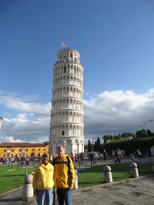 Dan and Shirley Leaning Tower of Pisa pisa italy Pisa Italy Tour SAM 1321