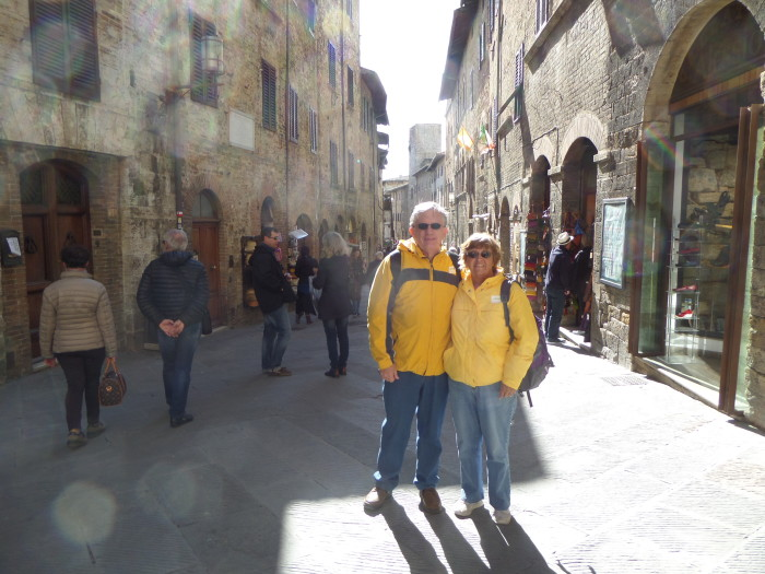 Dan and Shirley in San Gimignano San Gimignano San Gimignano The Heart of Tuscany SAM 1330