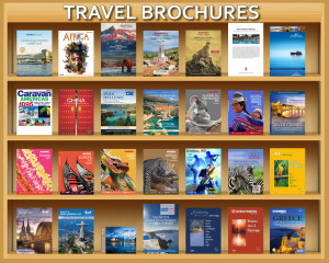 Brochure Rack Pebble Creek Travel Agency Pebble Creek  Travel Agency agentRack