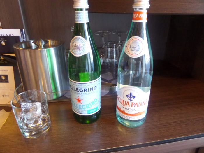 Assortment of Waters Included divina yacht club MSC Divina Yacht Club Experience Divina Yacht Club water selections