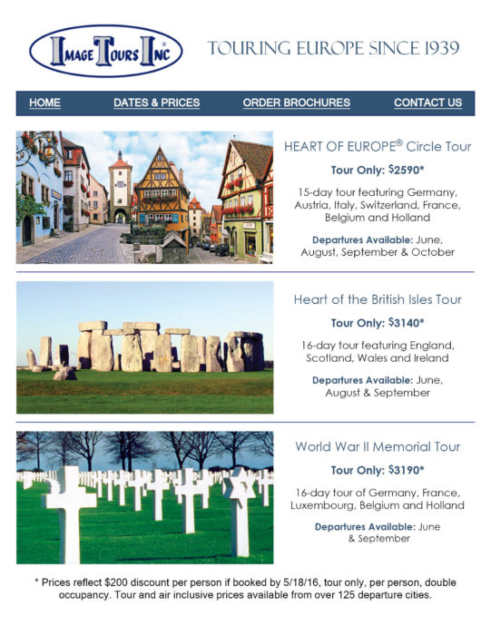 Image Tours Sampler image european tours Image European Tours Image Tours Heart of Europe Circle Tour