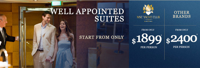 MSC Yacht Club Pricing msc yacht club MSC Yacht Club is the Most Affordable Luxury In Cruising MSC Yacht Club Pricing
