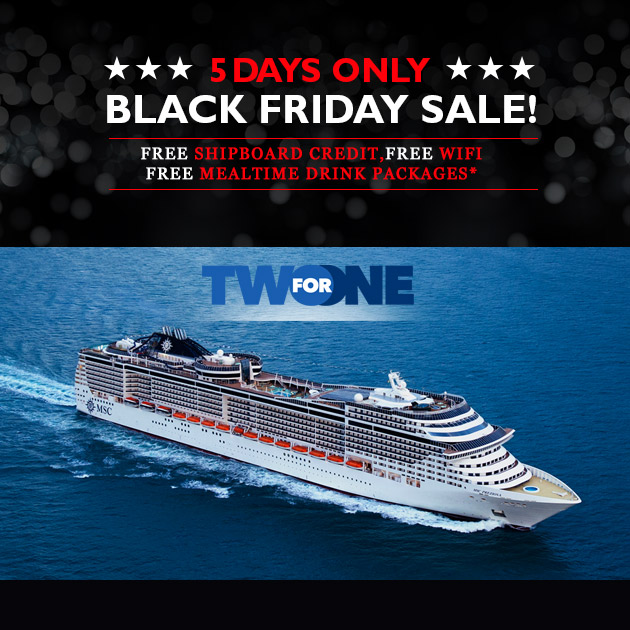 MSC Divina Black Friday Cruise Deal - Free wifi on cruise ships