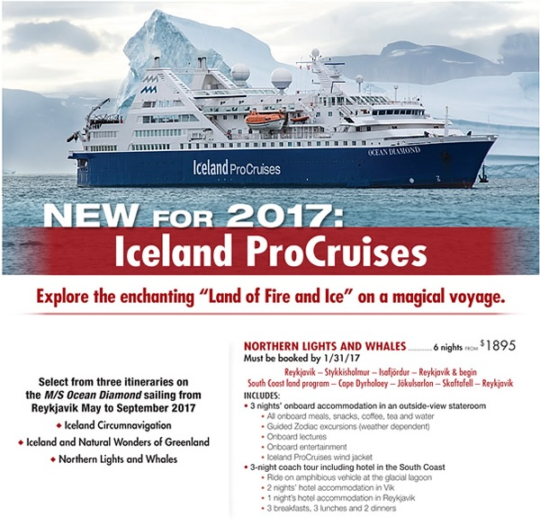Pro Iceland Cruises iceland cruises Iceland Cruises and Greenland for 2017 Pro Iceland Cruises