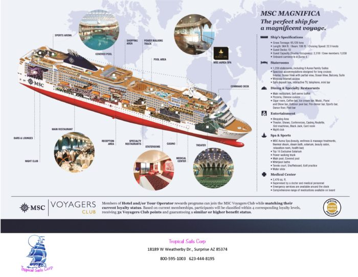 MSC Magnifica Around the World Cruise Flyer world cruise 2019 Around the World Cruise from MSC MSC Around the World Cruise Flyer Back