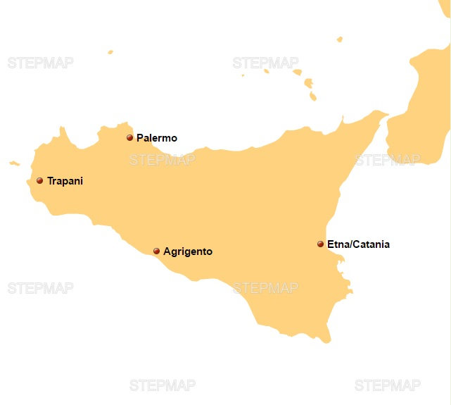 Sicily Tours Fly and Drive Map sicily tours Fly & Drive Sicily Tours Sicily Tours Fly and Drive Map