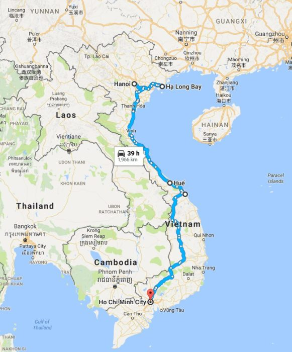 Vietnam Tour Map vietnam tours Classic Vietnam Tours from Tropical Sails Corp Vietnam Tour Map