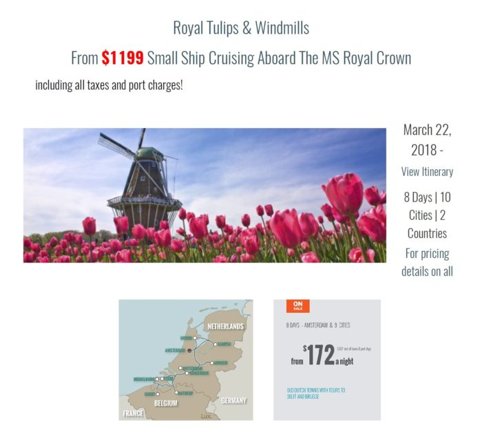european river cruise European River Cruises Super Specials Tulips and Windmills European River Cruise