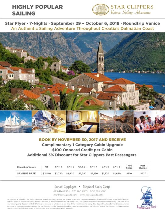 dalmatian coast cruise Star Clippers Dalmatian Coast Cruise Sept 29, 2018 Star Clippers Dalmatian Coast Cruise 2018