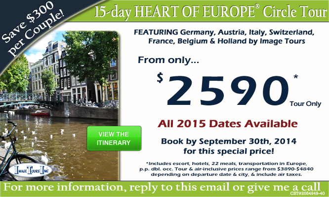 European Tours Tropical Sails Corp Travel Agency - Europe vacation packages