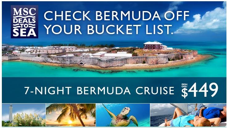 Special Cruise To Bermuda From Miami MSC - Bermuda cruise deals