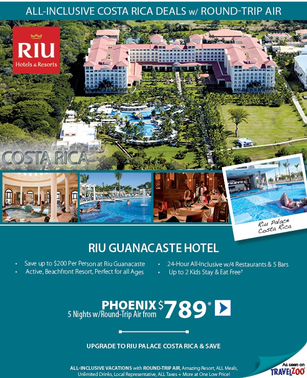 Riu Guanacaste Costa Rica Resort Package Tour